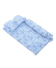 Du Bunn Love Bunny Print Bedding Set With Bolster - Blue