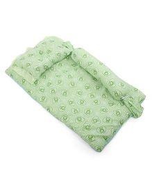 Du Bunn Heart & Bunny Print Bedding Set With Bolster - Green