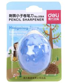 Deli Hedgehog Pencil Sharpener - Blue