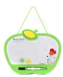 Deli Rainbow Dolls White Board With Marker And Duster- Green