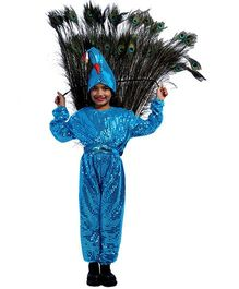 SBD Peacock Fancy Dress Costume For Kids - Blue
