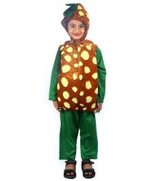SBD Pineapple Fruit Fancy Dress Costume - Yellow And Brown