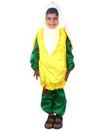 SBD Banana Fruit Fancy Dress Costume - Green And Yellow