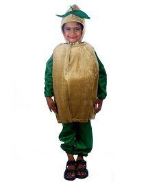 SBD Potato Vegetable Fancy Dress Costume - Beige And Green