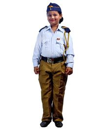 SBD Traffic Police Community Helper Fancy Dress Costume - White And Khaki