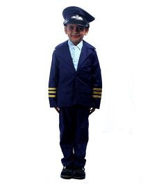 SBD Pilot Community Helper Fancy Dress Costume - Navy Blue And White