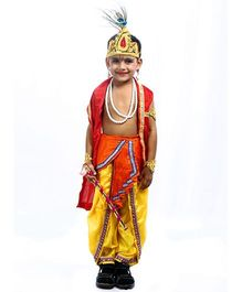 SBD Lord Krishna Mythological  Fancy Dress Costume - Multicolor