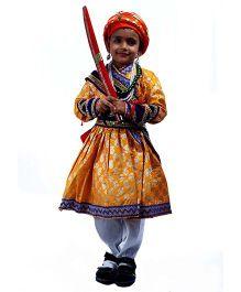 SBD Shivaji Mythological Fancy Dress Costume - Multicolor