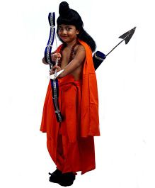 SBD Laxman Mythological Fancy Dress Costume - Orange