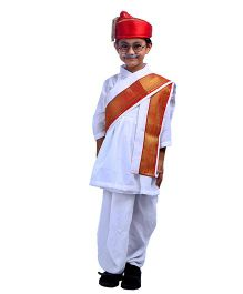 SBD National Heros Lokmanaya Tilak Fancy Dress Costume - White