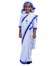 SBD National Heros Mother Teresa Fancy Dress Costume - White