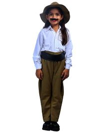 SBD National Heros Bhagat Singh Fancy Dress Costume - White And Khaki
