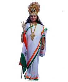 SBD Bharat Mata Fancy Dress Costume - White