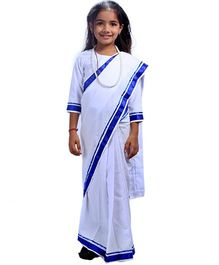 SBD Indira Gandhi Fancy Dress Costume - White