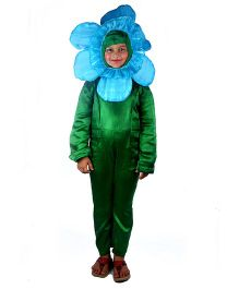 SBD Orchid Flower Flower Fancy Dress Costume - Blue And Green