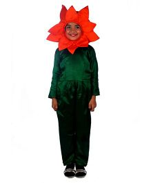 SBD Marigold Flower Fancy Dress Costume - Green And Orange