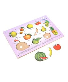 Creative Wooden Play N Learn Fruits Puzzle - 13 Fruit Pieces