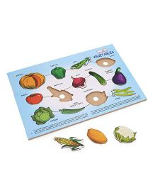 Creative Wooden Play N Learn Vegetable Puzzle - 13 Vegetable Pieces