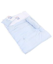 Montaly Baby Bedding With Bolster And Pillow Elephant Design - Blue