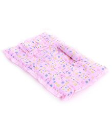 Baby Bedding With Bolster And Pillow Animal Print - Pink