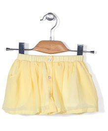 Chic Girls Skirt With Front Buttons - Yellow