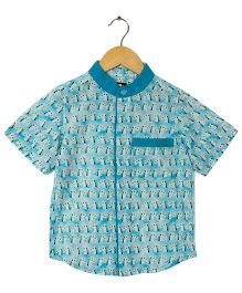 Hugsntugs Amazing Unicorn Print Shirt - Blue