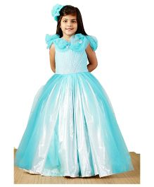 PinkCow Shimmer Princess Gown - Sky Blue