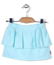 Chic Girls Layered Skirt - Aqua Blue