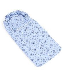 Montaly Bear Print Sleeping Bag - Blue