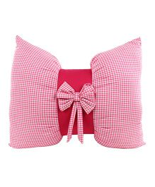 The Sprouts Bow Cushion - Pink