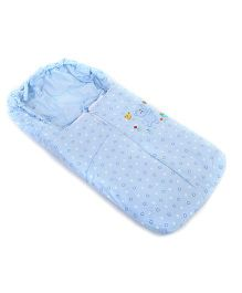 Montaly Sleeping Bag Heart And Bear Print - Blue
