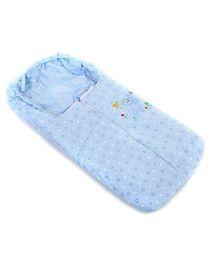 Montaly Sleeping Bag Heart And Bear Print - Blue