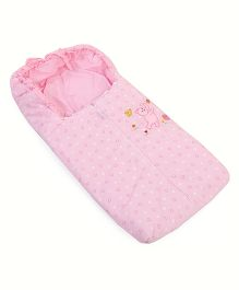Montaly Sleeping Bag Heart And Bear Print - Pink