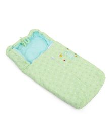 Montaly Sleeping Bag Heart And Bear Print - Green