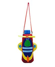 Li'll Pumpkins Rocket Design Bottle Cover - Red