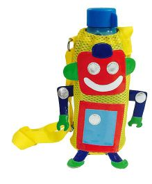 Li'll Pumpkins Robot Design Bottle Cover - Yellow