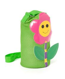 Li'll Pumpkins Flower Design Bottle Cover - Green