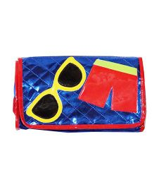 Li'll Pumpkins Stripes Sunglass 4 Fold Pouch - Blue