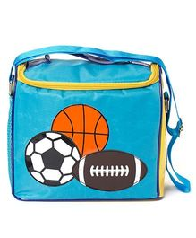Li'll Pumpkins Football Sling Bag - Aqua Blue