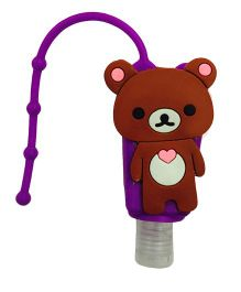 Li'll Pumpkins Teddy Bear Sanitizer - Purple & Brown