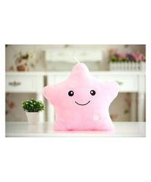 EZ Life Smiling Star Luminous Led Light Plush Pillow - Pink