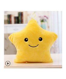 EZ Life Smiling Star Luminous Led Light Plush Pillow - Yellow