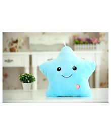 EZ Life Smiling Star Luminous Led Light Plush Pillow - Blue