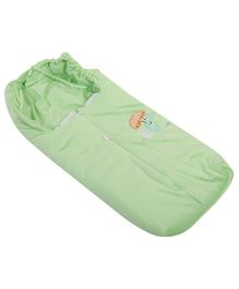 Montaly Sleeping Bag Bear Embroidery - Green