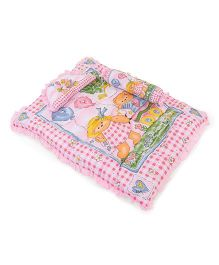 Juju Baby Bedding Set With Bolster And Pillow Bear Print - Pink