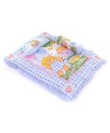 Juju Baby Bedding Set With Bolster And Pillow Bear Print - Blue