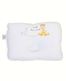 TomTom Joyful Baby Pillow Giraffe Print - White