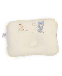 TomTom Joyful Baby Pillow Bear Print - Light Yellow