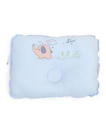 TomTom Joyful Baby Pillow Elephant Print - Sky Blue