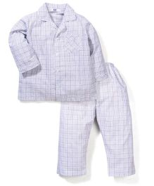 Enfant Checkered Night Suit - Grey